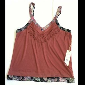 NWT Gimmicks by BKE Sleeveless Top Small S Buckle